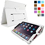 Snugg iPad Air 2 Case - Smart Cover with Flip Stand & Lifetime Guarantee (White Leather) for Apple iPad Air 2 (2014)