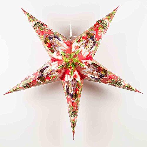Quasimoon PaperLanternStore.com 30'' Holy Nativity Scene Holiday Paper Star Lantern, Hanging Decorationby by Quasimoon