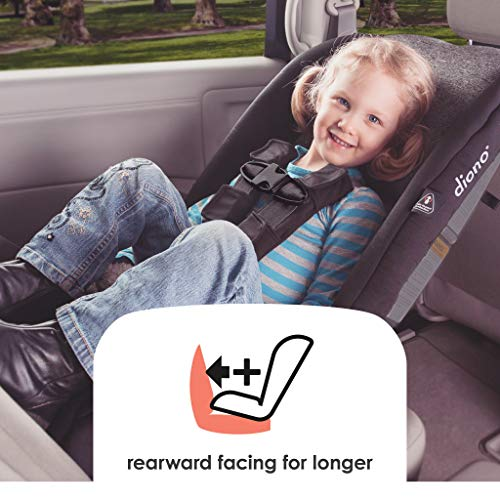 Diono Radian R100 All-In-One Convertible Car Seat, Black Mist