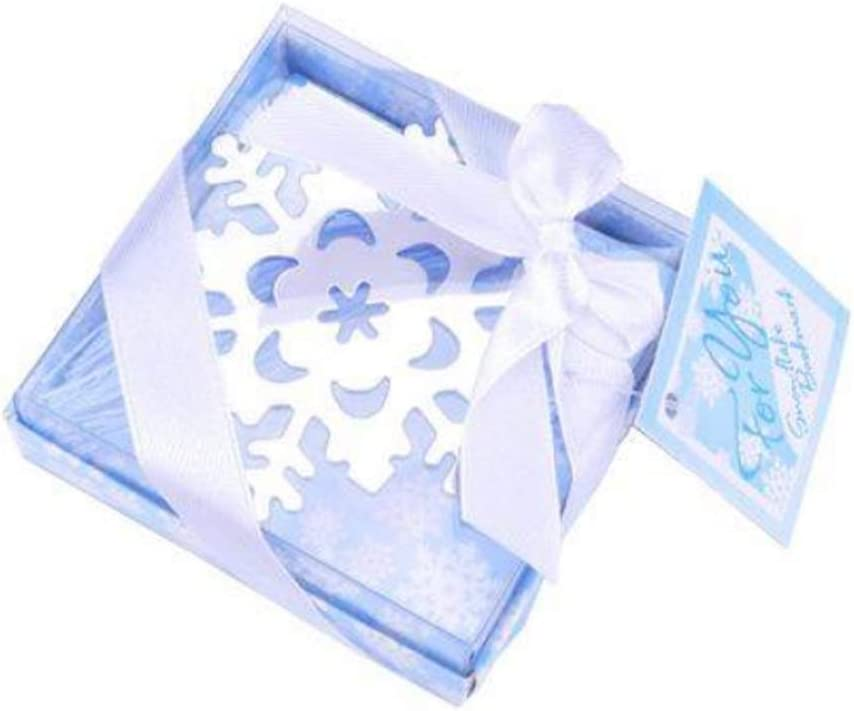 creux en acier inoxydable d/élicat Lovely Flocon de neige de No/ël avec glace Bleu Tassel Marque-page 6/cm x 6/cm