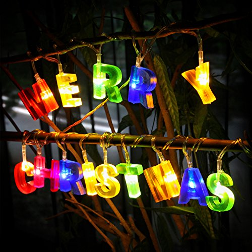 Xmas Lights And Erina Party Shop: 14 LED MERRY CHRISTMAS Letter Shaped Battery Operated