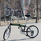 unYOUsual U transformer Black 20″ 6-Speed Folding City Bike Shimano Gears Foldable Bicycle For Sale