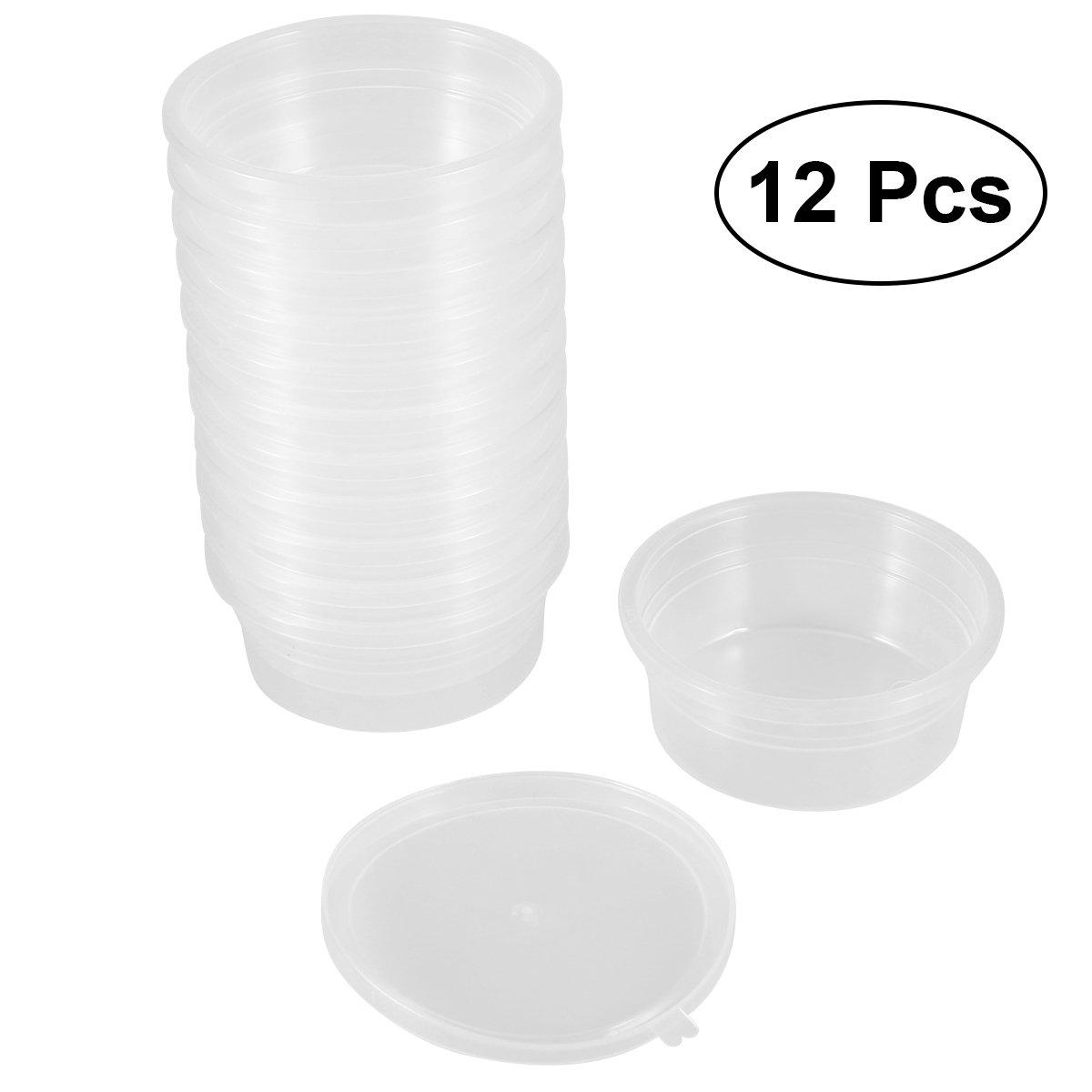 Rosenice - Contenitori per floam slime con coperchi per 20g di sostanze viscose–12confezioni