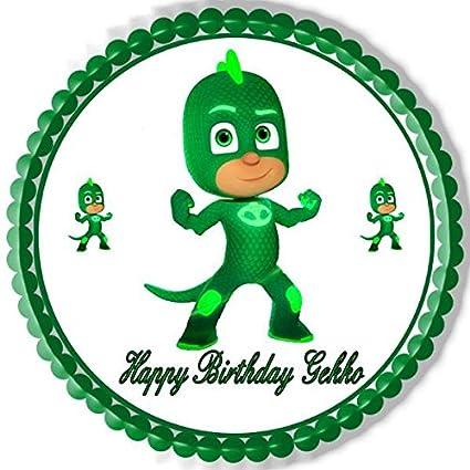 "PJ Masks Gekko Edible Cake Topper - 7.5"" ..."