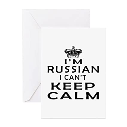 Amazon Cafepress I Am Russian I Can Not Keep Calm Greeting