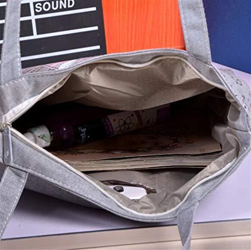Shopping In Grande A Mano Mappa Viaggio Di Tracolla Borsa Da Tela Londra Donna Spiaggia Tote Bag rqxXTrSwB