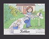 Mailman Gift Personalized Custom Cartoon Print 8x10, 9x12 Magnet or Keychain