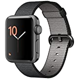Apple Watch Series 2, 38mm Rose Gold Aluminum Case with Light Pink/Midnight Blue Woven Nylon Band