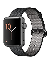 apple MP0D2LL/A Watch Series 2 38mm Smartwatch Space Gray Aluminum Case, Black Woven Nylon Band