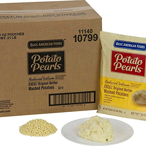 Basic American Foods Excel Original Butter Mashed Potatoes, 28 Ounce