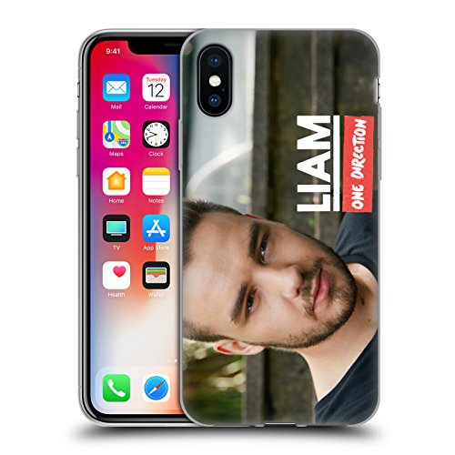 Official One Direction Close Up Liam Payne Photo Soft Gel Case for Apple iPhone X
