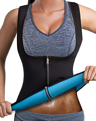 DoLoveY Women Neoprene Sauna Vest Weight Loss Sweat Slim Corset Hot Body Shaper with Zipper