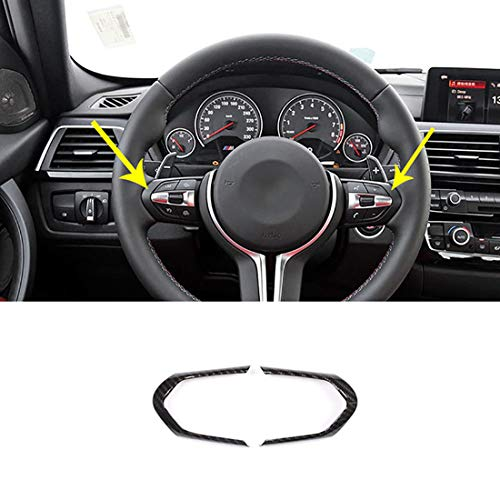 2x Carbon Fiber Style ABS Steering Wheel Decoration Frame Trim For BMW F20 F22 F30 F32 F33 F36 F06 F12 F13 X5 F15 X6 F16 M-Sport ()