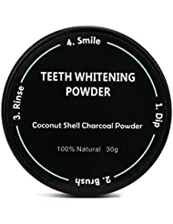 Teeth Whitening Powder Natural Organic Activated Charcoal Bamboo Toothpaste For Men & Women By Makaor