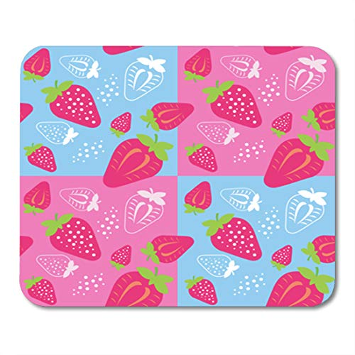 Collection Antioxidant - Semtomn Gaming Mouse Pad Abstract Fruit ¡é Strawberry Agriculture Antioxidant Collection Cross Cut 9.5