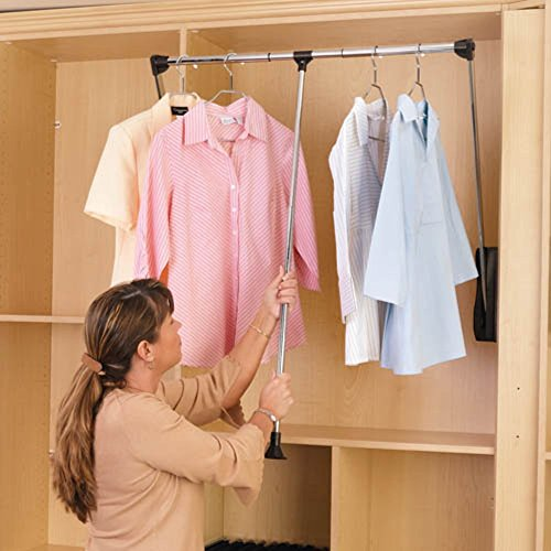 Rev-A-Shelf RCPDR-3548 Pull-Down Closet Rod - 35- 48 in. by Rev-A-Shelf