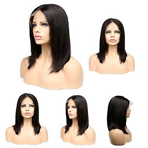 [SUPPION Europe and America Wigs Black Hair Short Wigs Black Brazilian Lace Hair Lace] (Afro Chops Wig)