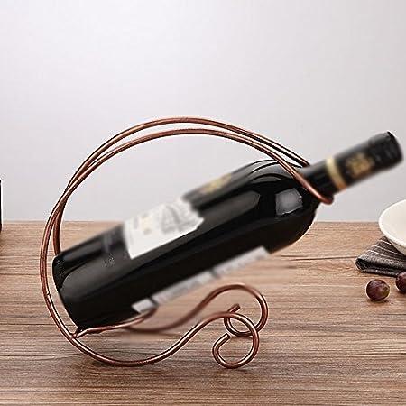 Vinotecas Nan Bastidores de Vino Plating Bronce de Hierro Botella Individual Convenience Creative Home Living Room