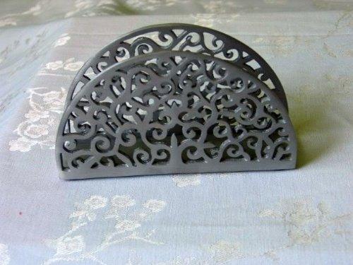 Napkin Holder Grey Anodized Aluminum Yair Emanuel Home Decor Kitchen Accessory