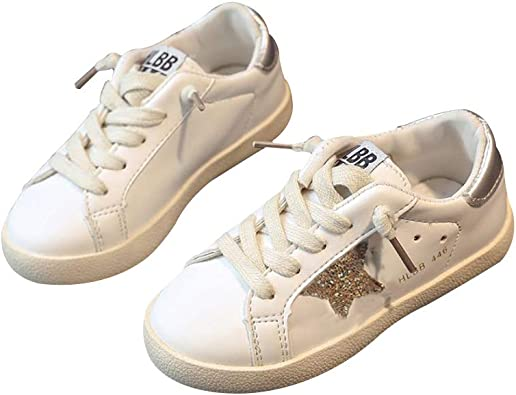 XinYiQu Kids Sparkle Star Sneakers