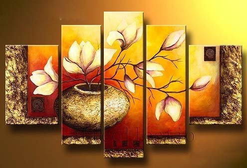 Wieco Art Stretched Hand Painted Paintings product image