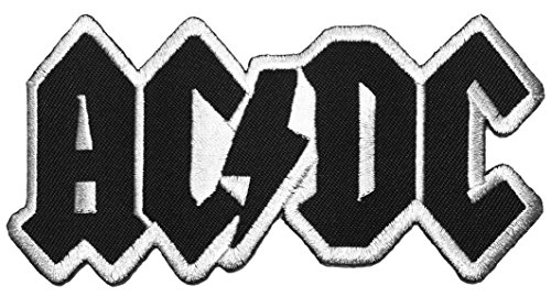 [AC/DC size 11.5 x 6cm.Band Music rock heavy Metal punk logo Jacket Vest shirt hat blanket backpack T shirt Patches Embroidered Appliques Symbol Badge Cloth Sign Costume Gift 11.5 x] (Zombie Skate Punk Costumes)