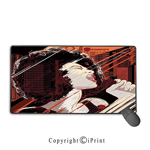 Waterproof coated mouse pad,Afro Decor,Jazz Singer for sale  Delivered anywhere in USA