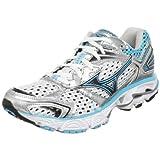 Mizuno Women's Wave Inspire 7 Running Shoe,White/Blue Atoll-blue Depths,7 M US