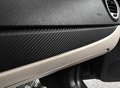 karlor 3d de fibra de carbono vinilo hoja papel de regalo Negro 12 pulgadas x 60 pulgadas (negro): Amazon.es: Coche y moto