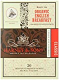 Harney & Sons Black Tea, Organic English Breakfast, 1.7 oz, 20 Sachets (Pack of 6)