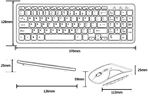 Keyboard and Mouse Combo Kit MLD-568 Ultra-Slim Black Mini Wireless Keyboard and Mouse Combo Kit for PC Desktop Loptop Classic Office Set