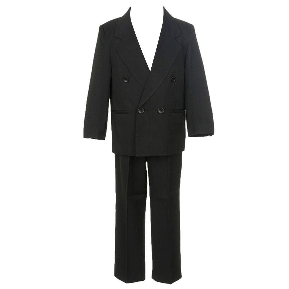 HBDesign Boys 3 Piece Double Breasted Formal Suit Vest Black