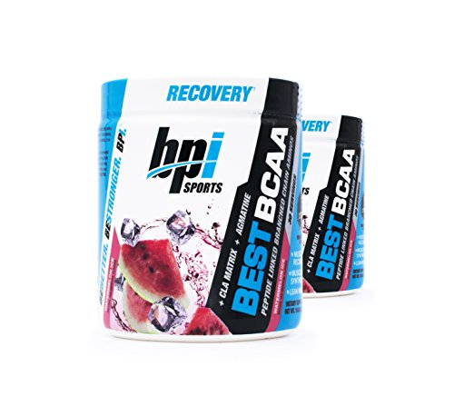 BPI Sports Best BCAA Peptide Linked Branched Chain Amino Energy Powder, 10.58oz, Pack of Two 30 Servings (Watermelon 2 x 30svg)