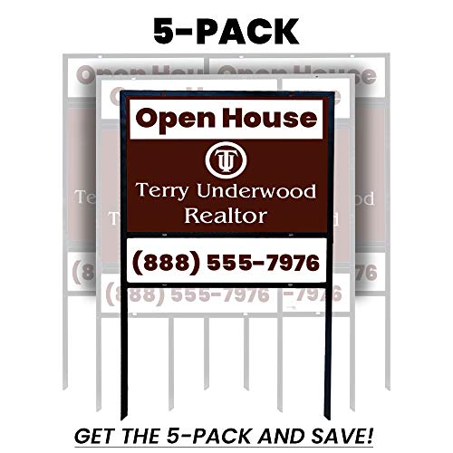 5-Pack Econo 24x18 Iron Real Estate Sign Frame with ()