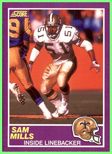 1989 Score Supplemental #372S Sam Mills RIP NEW ORLEANS SAINTS MONTCLAIR - Montclair Store