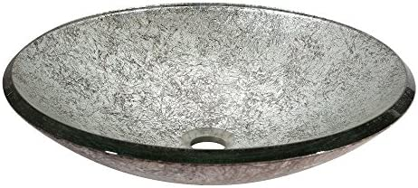 Tempered Glass Vessel – Metallic Silver