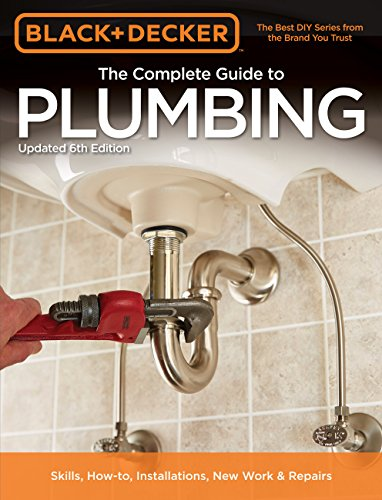 You might not have to call a plumber; get the most comprehensive, up-to-date book on home plumbing for DIYers of all skill levels instead! From fixing a faucet to installing a drain line in a basement floor, The Black & De...