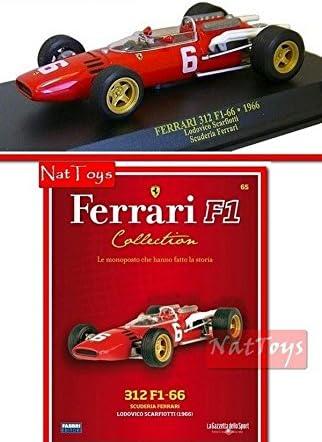 Ferrari F1 312 F1-66 1966 Scarfiotti MODELLINO +BOX DIE CAST 1:43 ...