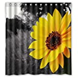 Pillowcase Generic Personalized Bright sunflower pattern polyester Shower Curtain,60'' x 72'' Inches Shower Curtain