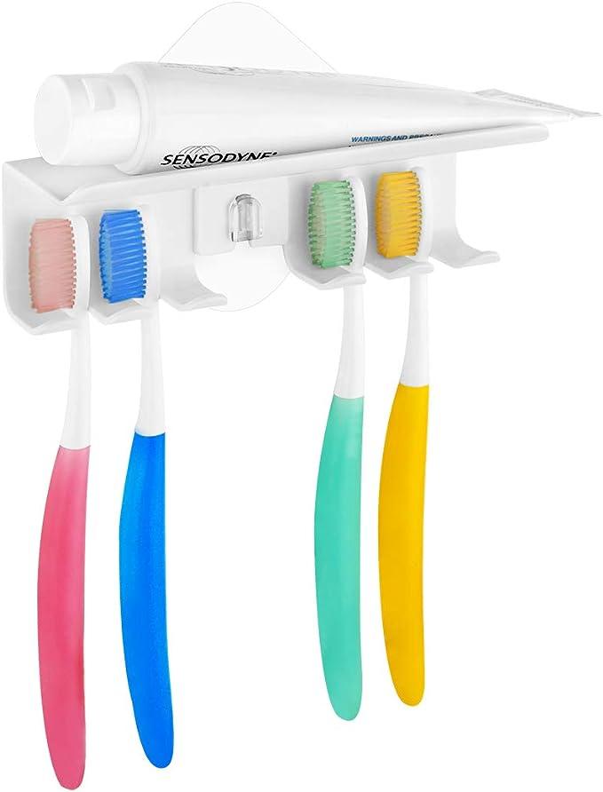 Shaver Organizer Seamless Adhesive Hook Storage Rack Toothbrush Holder