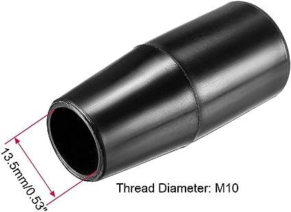 MroMax Handwheel M10 Female Thread Hand Grip Handle Plastic 50mm//1.97 Length Black 2pcs