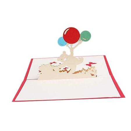 BHDYHM Hecho a Mano 3D Tarjetas de felicitación y niños ...
