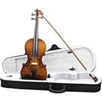Jiecikou Basswood Acoustic Violin Practice Fiddle with Case Bow for Beginner, Size 4/4 Full Size