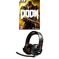 Doom with the Y-350X 7.1 Powered Doom Edition Gaming Headset (PC DVD)