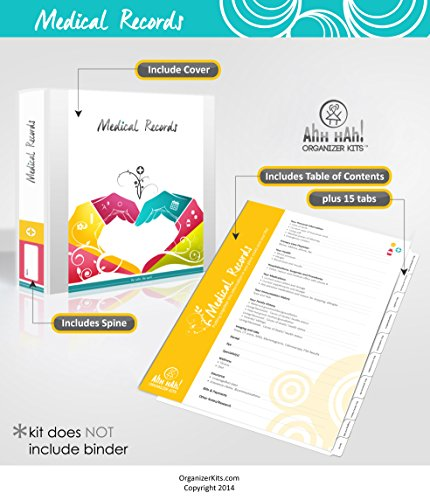 Ahh Hah Medical Records Organizer Kit (Medical Record Organizer)