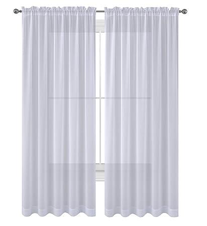Amazoncom Wpm Drapepanelstreatment Beautiful Sheer Window