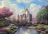 Fanghui Fairy tale castle 7' x 5' Pictorial cloth photography Background Vinyl Backdrop