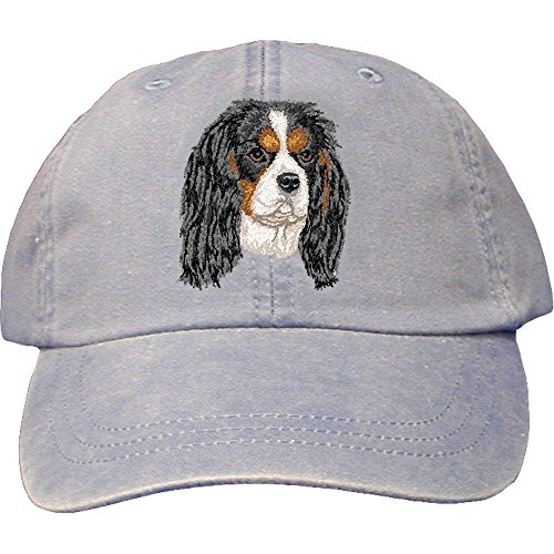 Cherrybrook Dog Breed Embroidered Adams Cotton Twill Caps - Periwinkle - Cavalier King Charles (Cavalier Embroidered Cap)