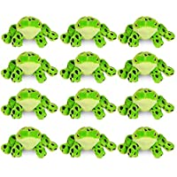 Wildlife Tree 12 Pack of 4 Inch Mini Small Stuffed Animals, Bulk Bundle Zoo Animal Toys, Party Favors for Kids