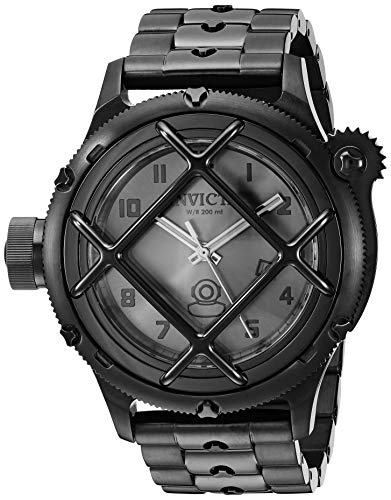 - Invicta Men's Russian Diver Quartz Watch with Stainless-Steel Strap, Black, 25 (Model: 26467)
